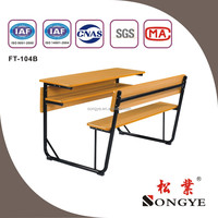 AP Good quality connected school desk and bench school furniture price list