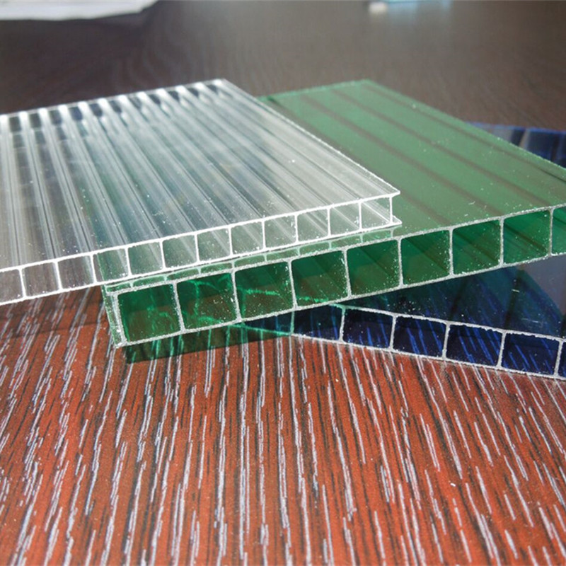 factory offered types of twin wall polycarbonate sheet price