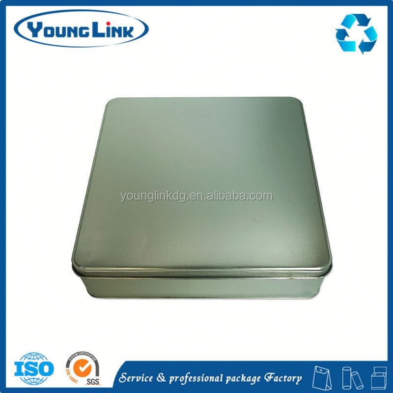 high quality square candy tin case