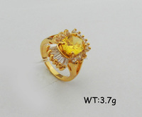 brass jewelry citrine man ring cheap gemstone ring in factory