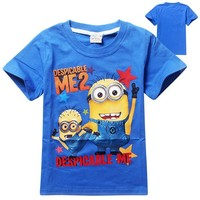 Selling T-shirts Wholesale Kids T Shirt Printed Minion Costumes For Children