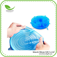 Silicone Stretch Lids, Multi Size strech lid Stretchable food cover to keep Food Fresh, Transparent Strecthable Food Seal Wrap