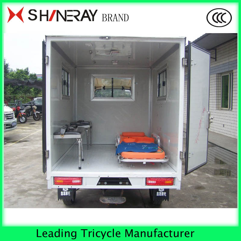 Large capacity adult tricycle with 3 wheel for mercedes ambulance