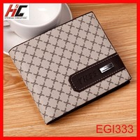 2014 Hot sale plaid men brand wallet short handsome business man wallet