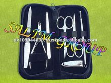 Manicure Tool Set Hair Scissors Razor Tweezer Nippers
