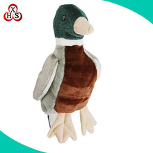 high quality custom made soft plush duck knitted polyester golf head covers