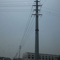 11kv galvanized steel pole with bolt