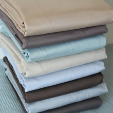 100% cotton 400TC solid color plain sateen bedding fabric