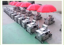 Stainless steel Street food vending cart for sale
