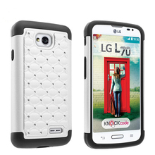 White case for lg l70,babysbreath combine hybird cover case for lg optimus l70