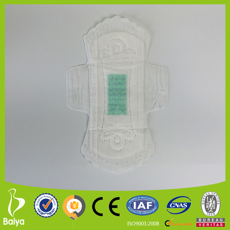 240mm breathable cotton anion sanitary napkins ultra thin pad