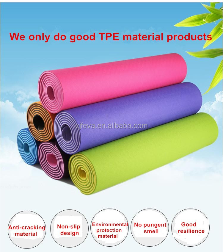 BSCI factory supply quality TPE yoga mat Manufacturer