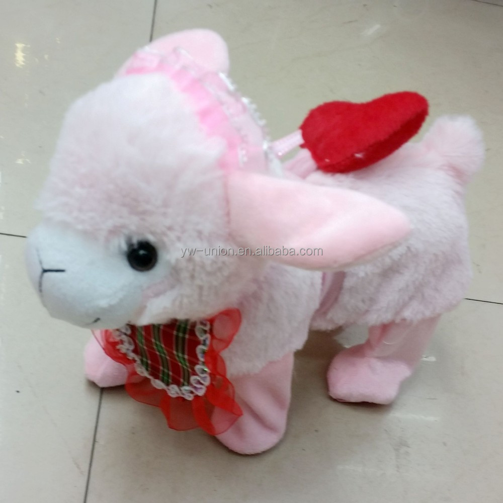 New year gift Goat year toys 25cm cute sheep doll sheep plush toys/Walking, twisting with 1 kind of music