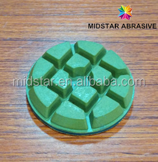 MIDSTAR Concrete Grinding Pad, Floor Polishing Pad,velcro backed