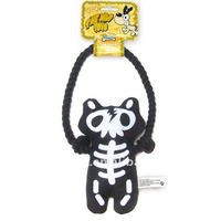 pet plush toy with rope,dog toy bear (p6074)