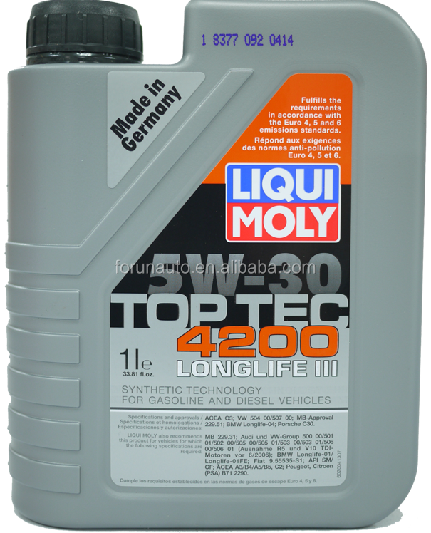 Liqui Moly Top Tec 4200 5W-30 Synthetic Motor Oil