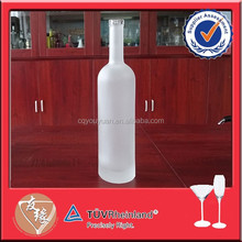 White frosted 750ml red wine bottles for sale