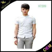 2016 promotion men branded formal shirts short sleeve men slim fit shirts