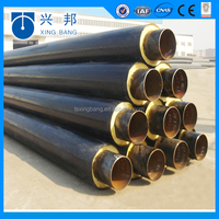 gi casing preinslated steel pipeline for above ground insulation