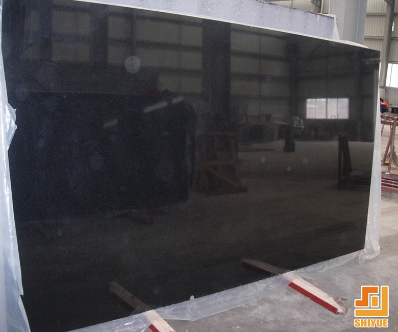 Popular thin cutter size shanxi granite slabs absolute polished black granite