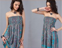 Chest wrapped big size fashion dress