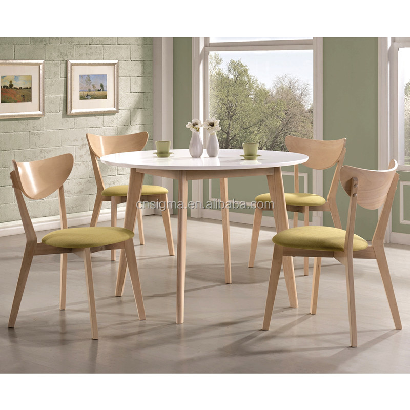 2015 Modern Design Round Table Dining Set Used Wooden Teak Patio