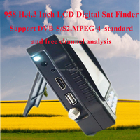 "4.3"" Portable Satellite Finder with DVB-S ,with 13/18V LNB Power and Bracket"