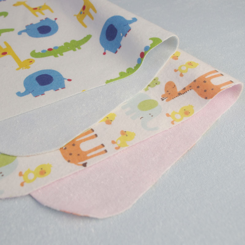 3-Layers Printed Flannel+TPU+Bamboo Terry Bonded Fleece Fabric for Baby Diaper