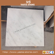 Honed Chinese carrera marble tile white marble stone with grain