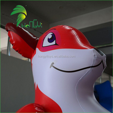 Wonderful Red Inflatable Fox Cartoon Mascot Water Toys , Inflatable Vixen WIth Blue Eyes
