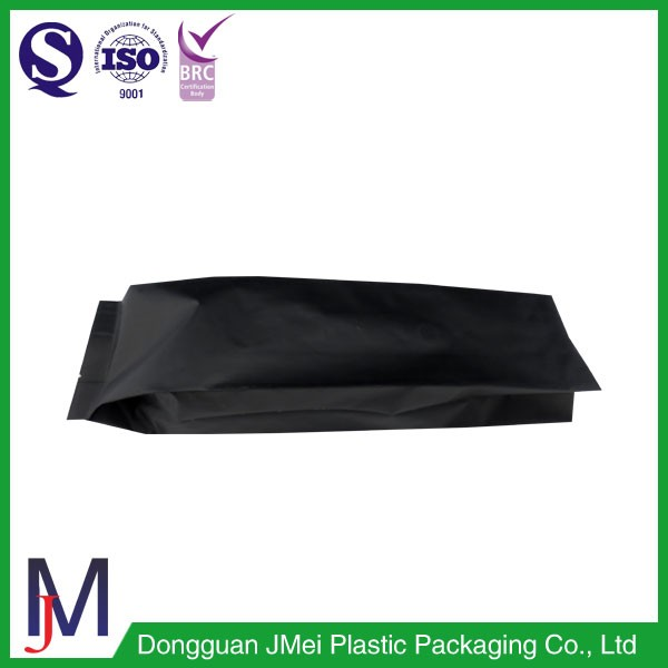 Black matte colour one way valve coffee bean bags 1kg