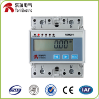 REM201 single phase electric din rail energy meter analog KWH meter RS485