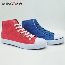 Fancy Casual Custom men high top canvas shoes
