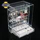 JINBAO wholesale custom plexiglass jewelry storage boxes clear acrylic gift candy display box acrylic box with hinged lids