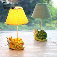 ROOGO Resin lamp reading light desktop lamp carton cartoon household desk lamps