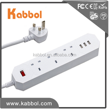 3 gang 3 usb multi electrical socket extension plug and socket intelligent power socket for iPhone iPad and Tablet