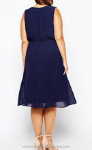 Monroo summer dress deep v-neck cocktail dress plus size clothing for fat women
