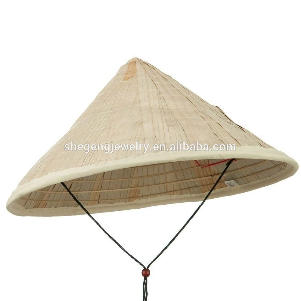 Asian Japanese Large Straw Bamboo Coolie Hat