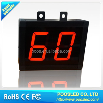large digital wall led countdown timer