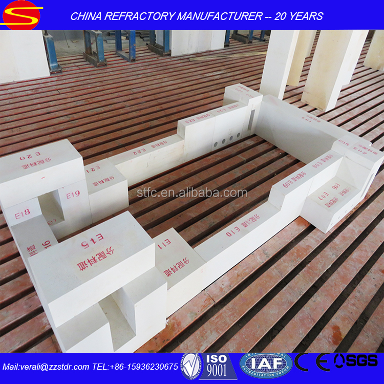 fused cast azs refractories for glass kiln