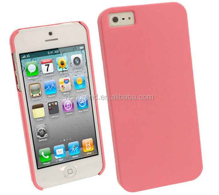 For New Apple iPhone 4G 5 5S 5C SE Cover Pink Rubber PC Hard Case