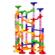 105Pcs DIY Construction Marble Race Run Maze Balls Track Building Blocks Toy For Child