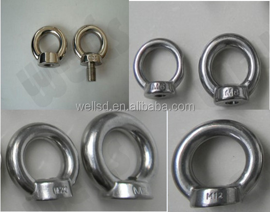 High quality Stainless Steel DIN582 Eye Nut for Lifting