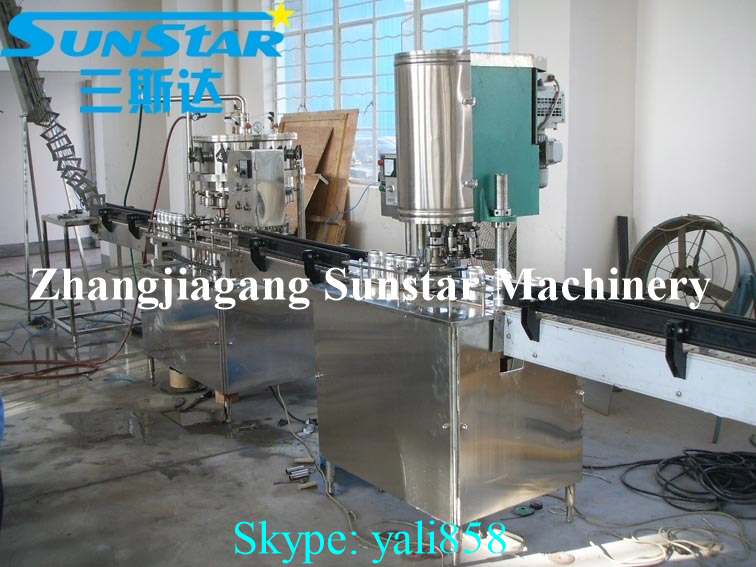Automatic small canning machines for sale of aluminum tin plastic can for beer soda carbonated drink