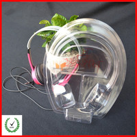 Transparent plastic packaging for headphone
