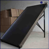 flat roof black chrome flat panel best solar water heater