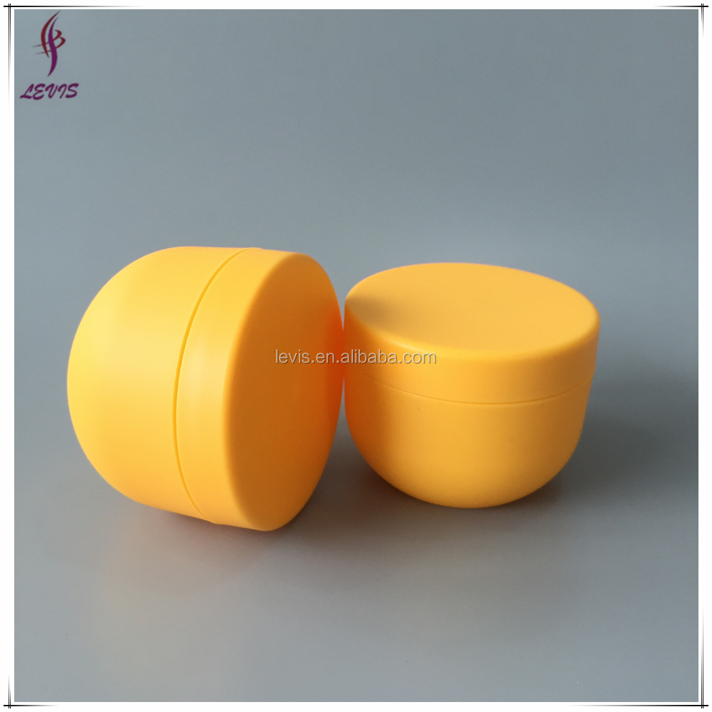 Empty cosmetic bowl shape yellow wholesale 4oz plastic containers