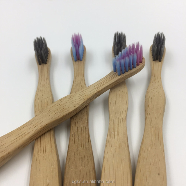 Biodegradable Carbon Bristles Bamboo Toothbrushes for Kids