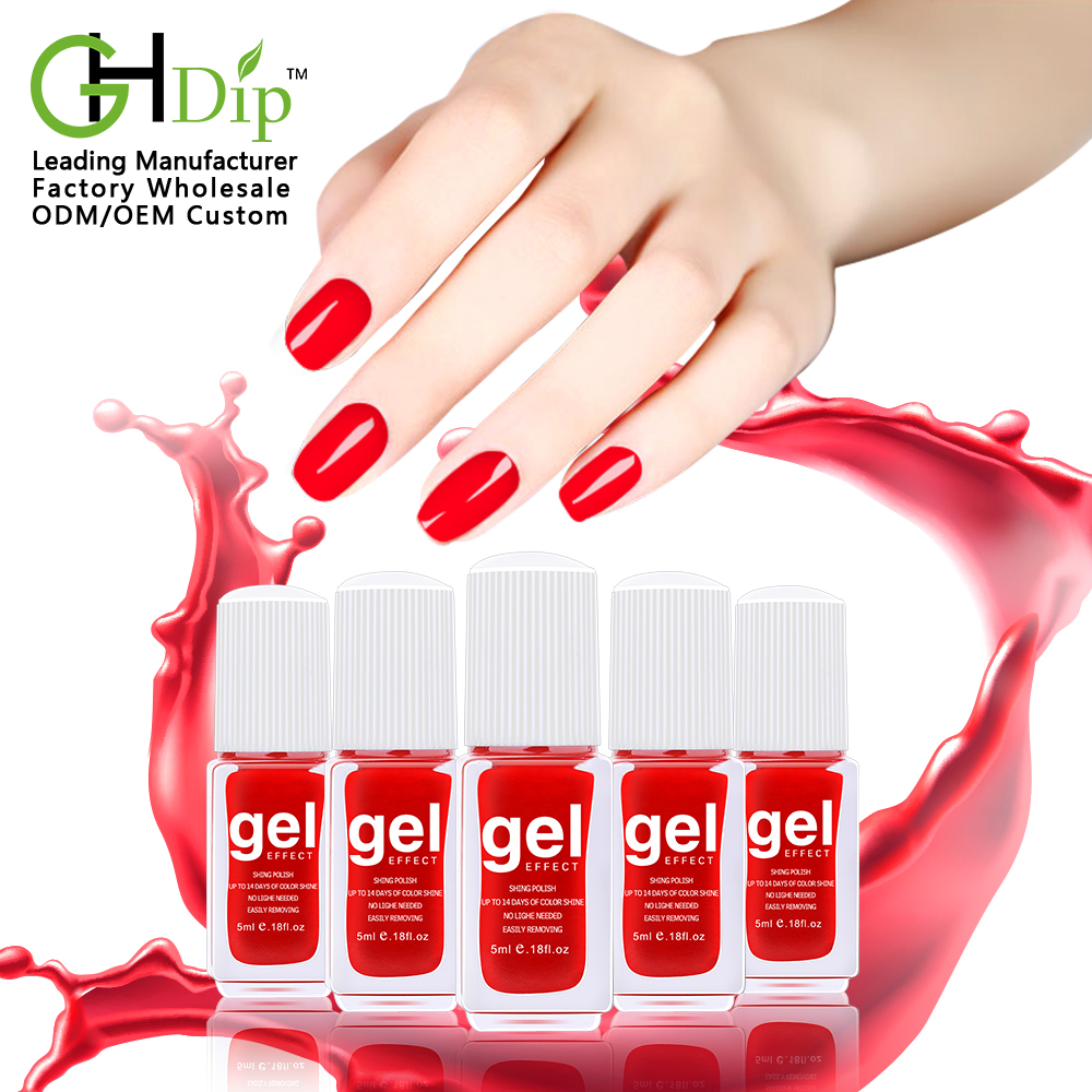 Factory supplier global fashion no light color gel nail polish without UV light