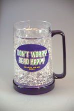 beer mug plastic double wall frosted cup